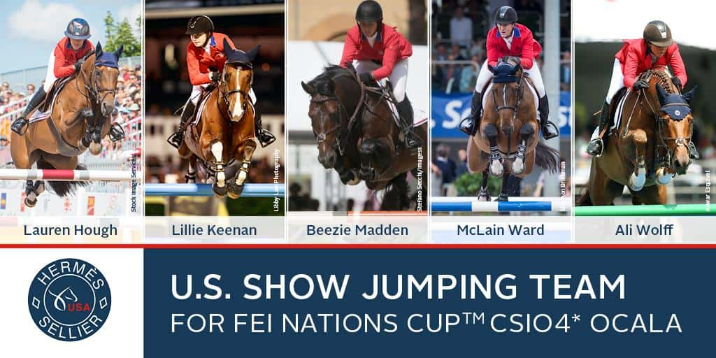 US Equestrian Names Hermès U.S. Show Jumping Team for FEI Nations Cup™ CSIO4* Ocala