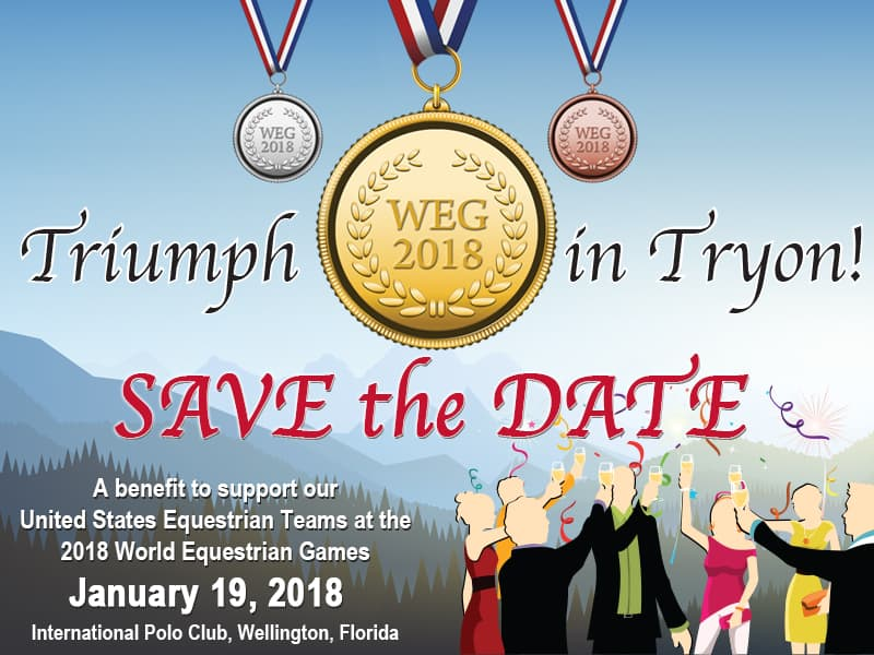 "USET Foundation to Host ""Triumph in Tryon"" Gala to Benefit U.S. World Equestrian Games Teams"